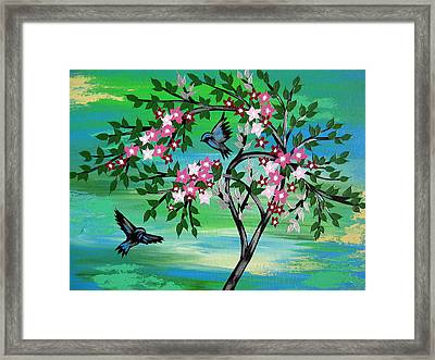 Sakura Freshness Framed Print by Cathy Jacobs