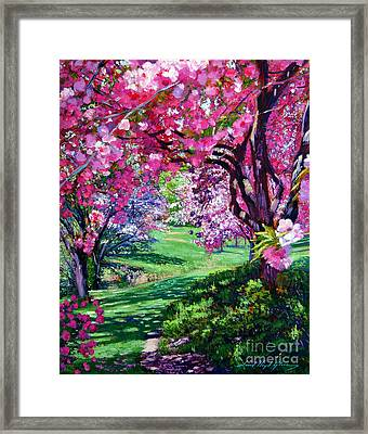 Sakura Romance Framed Print by David Lloyd Glover