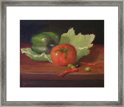 Salad By Alan Zawacki Framed Print