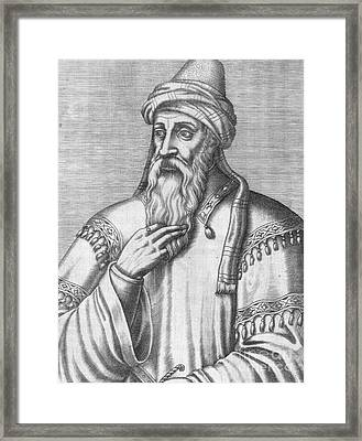 Saladin, Sultan Of Egypt And Syria Framed Print by Photo Researchers