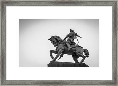 Salavat Yulaev Statue In Ufa Russia Framed Print