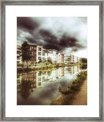 Framed Print featuring the photograph Sale Canal by Isabella F Abbie Shores FRSA