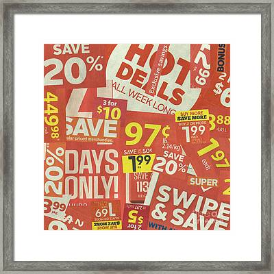 Sale Clippings Framed Print