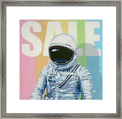 Framed Print featuring the painting Sale by Scott Listfield