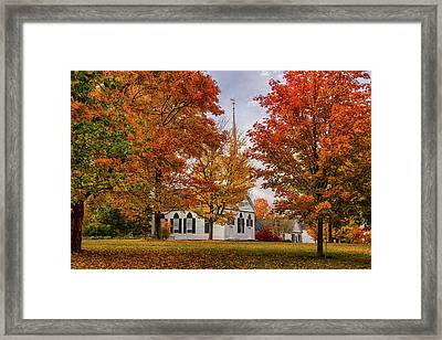 Framed Print featuring the photograph Salem Church In Autumn by Jeff Folger