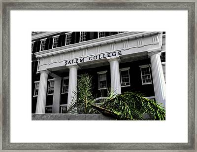 Framed Print featuring the photograph Salem College by Jessica Brawley
