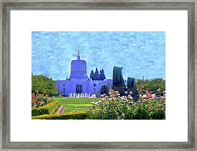 Salem Oregon State Capital Framed Print by Margaret Hood