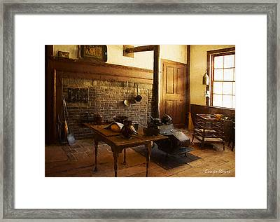 Salem Towne House Ktichen Framed Print by Louise Reeves