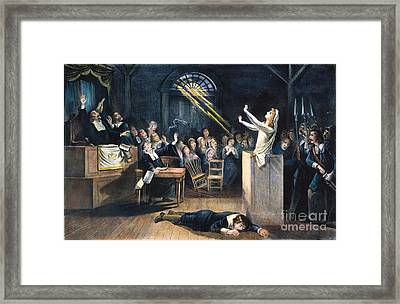 Salem Witch Trial, 1692 Framed Print