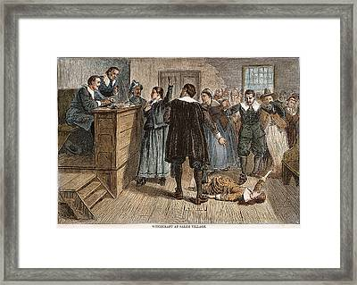 Salem Witch Trials, 1692 Framed Print by Granger