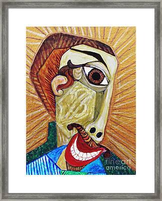 Salesman Of The Year Framed Print by Sarah Loft