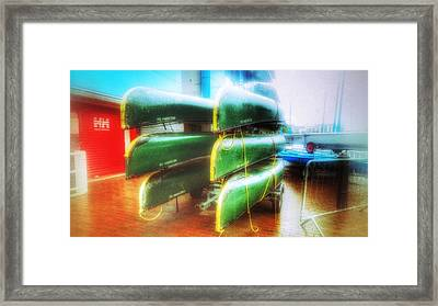 Framed Print featuring the photograph Salford Quays Boats by Isabella F Abbie Shores FRSA