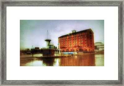 Framed Print featuring the photograph Salford Quays Edge by Isabella F Abbie Shores FRSA