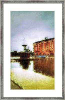 Framed Print featuring the photograph Salford Quays Red Brick Building by Isabella F Abbie Shores FRSA