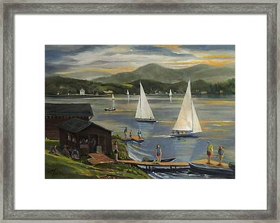 Sailing At Lake Morey Vermont Framed Print