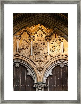 Salisbury Cathedral Doors Framed Print