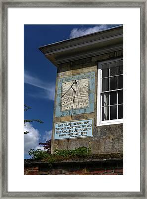 Salisbury Sundial Framed Print