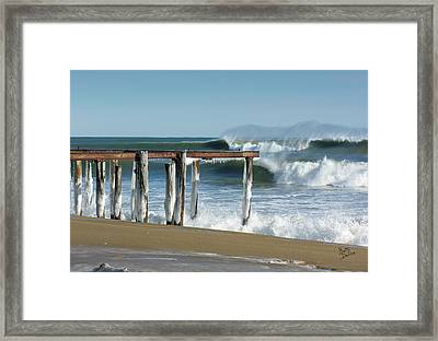 Framed Print featuring the photograph Salisbury Winter Storm by Betty Denise