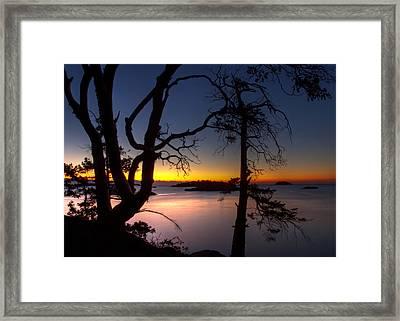 Salish Sunrise Framed Print by Randy Hall