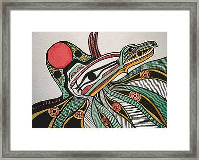 Salishan Style Raven Framed Print by K Hoover
