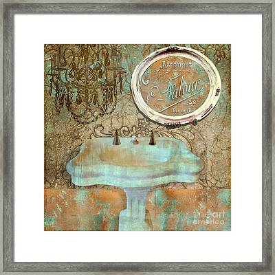 Salle De Bain II Framed Print by Mindy Sommers