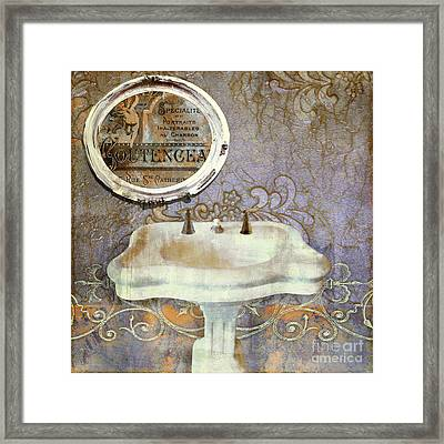 Salle De Bain Iv Framed Print by Mindy Sommers