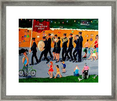 Sally Army Framed Print by Sandy Wager
