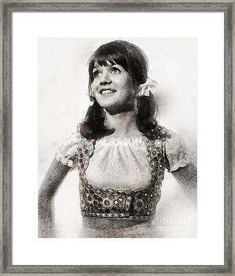 Sally Geeson, Vintage British Actress By John Springfield Framed Print by John Springfield