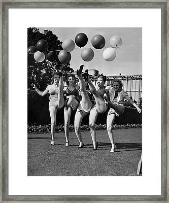 Sally Rand's Entertainers Framed Print by Underwood Archives