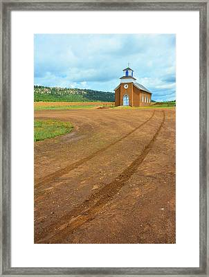 Salman Ranch Mission Church Framed Print