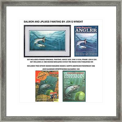 Salmon And Jplugs Framed Print by Jon Q Wright