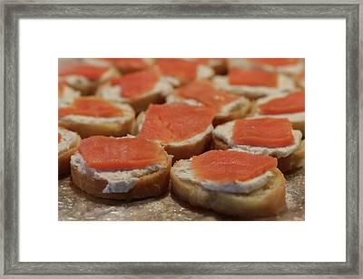 Salmon Crostini Framed Print