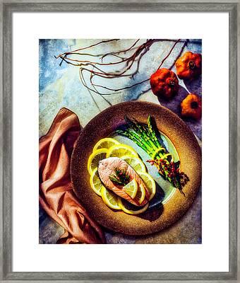 Salmon Dinner Framed Print