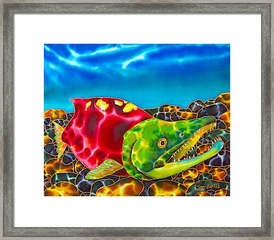 Salmon Fish Framed Print by Daniel Jean-Baptiste