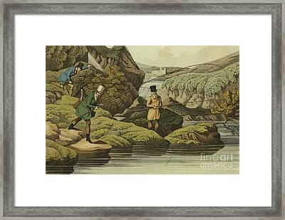 Salmon Fishing Framed Print by Henry Thomas Alken