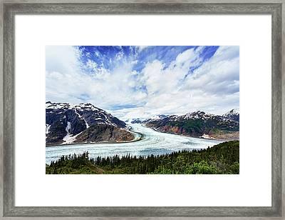 Salmon Glacier Framed Print by Heidi Brand