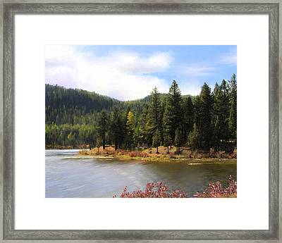 Salmon Lake Montana Framed Print