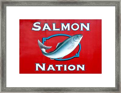 Salmon Nation Framed Print by Todd Klassy