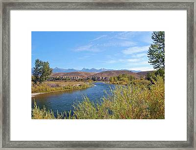 Salmon River Framed Print