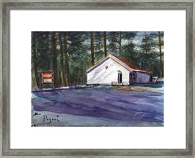 Framed Print featuring the painting Salmon River Grange by Chriss Pagani