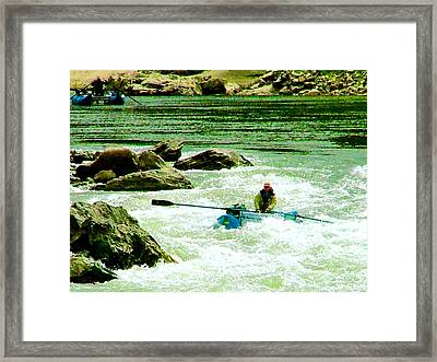 Salmon River Rafting Framed Print