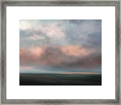 Salmon Sky Framed Print
