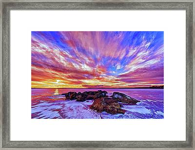 Salmon Sunrise Framed Print by ABeautifulSky Photography