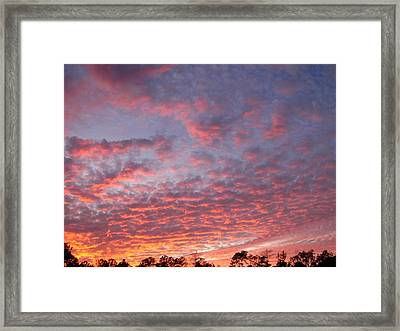Framed Print featuring the photograph Salmon Sunset by Jeanne Kay Juhos
