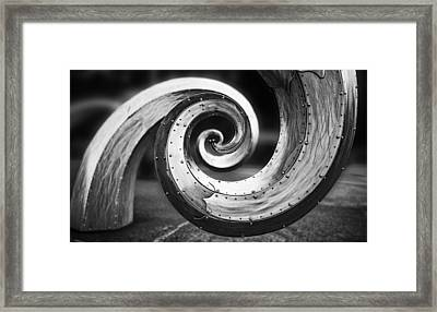 Salmon Waves Black And White Framed Print by Pelo Blanco Photo