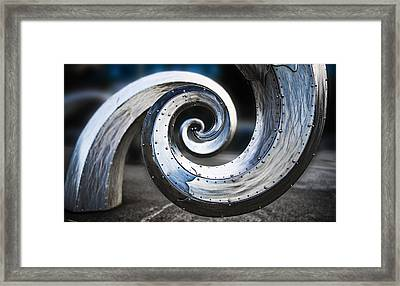Salmon Waves Framed Print by Pelo Blanco Photo