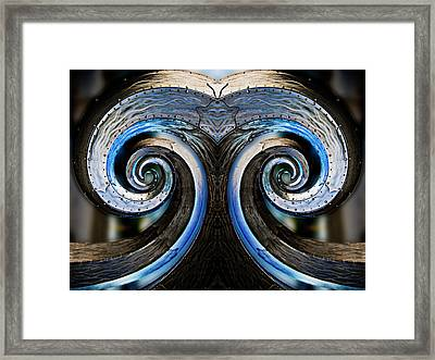 Salmon Waves Reflection Framed Print by Pelo Blanco Photo