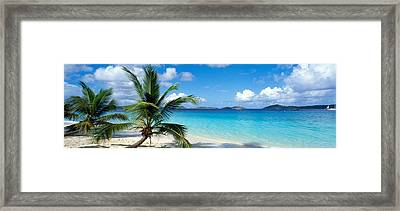 Salomon Beach Us Virgin Islands Framed Print