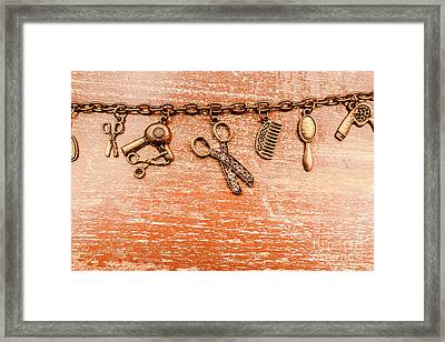 Salon Hair Cut Tools Framed Print