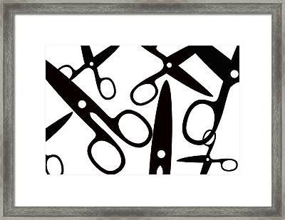 Salon Scissors Framed Print by Chastity Hoff